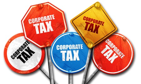 58087914 - corporate tax, 3d rendering, rough street sign collection