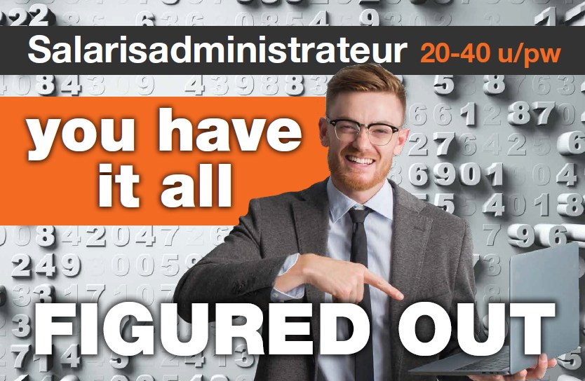 Vacature salarisadministrateur - man glimlacht en zegt: 'you have it all figured out!