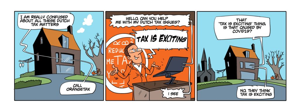 Tax is Exciting Covid cartoon